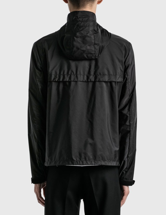 Prada Logo Windbreaker Jacket Nero+ferro Men