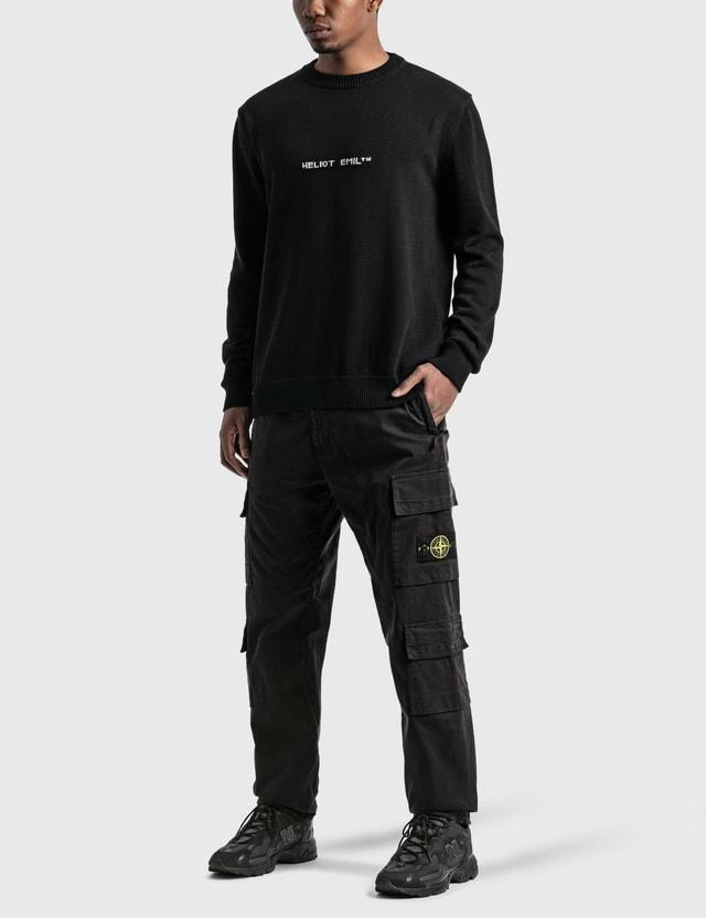 Heliot Emil Knit Sweater With Intarsia Logo