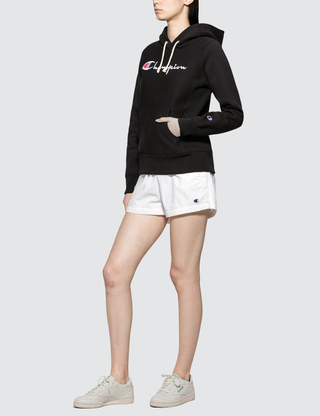 Champion Reverse Weave Hooded Sweatshirt Black Women