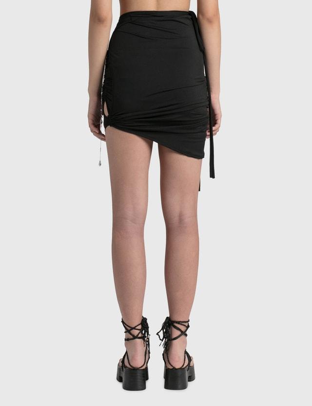 Hyein Seo Lotus Shirring Skirt Black Women
