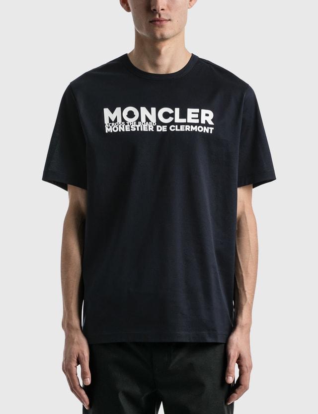 Moncler Logo T-shirt Navy Men