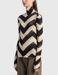 Nanushka Harri Top Chevron Print Women