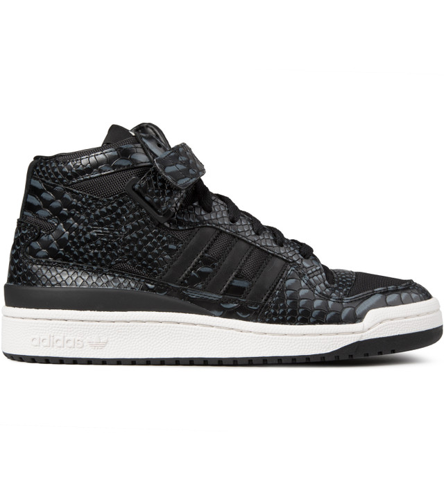 the latest 9ba7c b9ff6 Adidas Originals Black White Forum Mid RS B26384 Shoes
