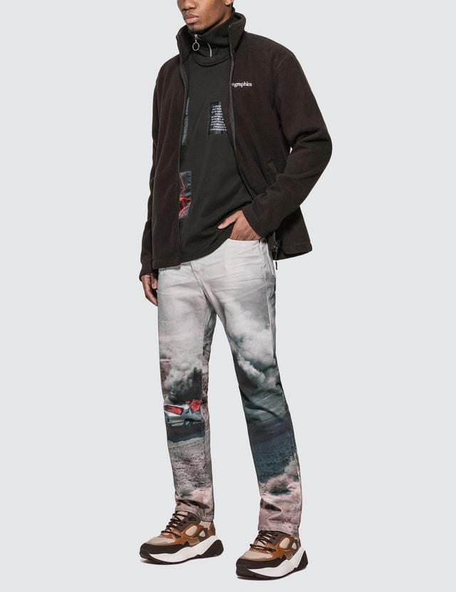 GEO Patchwork Hi-Neck Long Sleeve