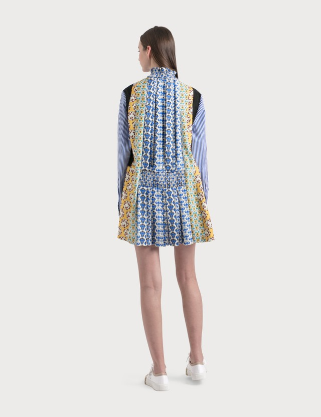 Prada Patch Dress Bluette+avorio+vanig Women