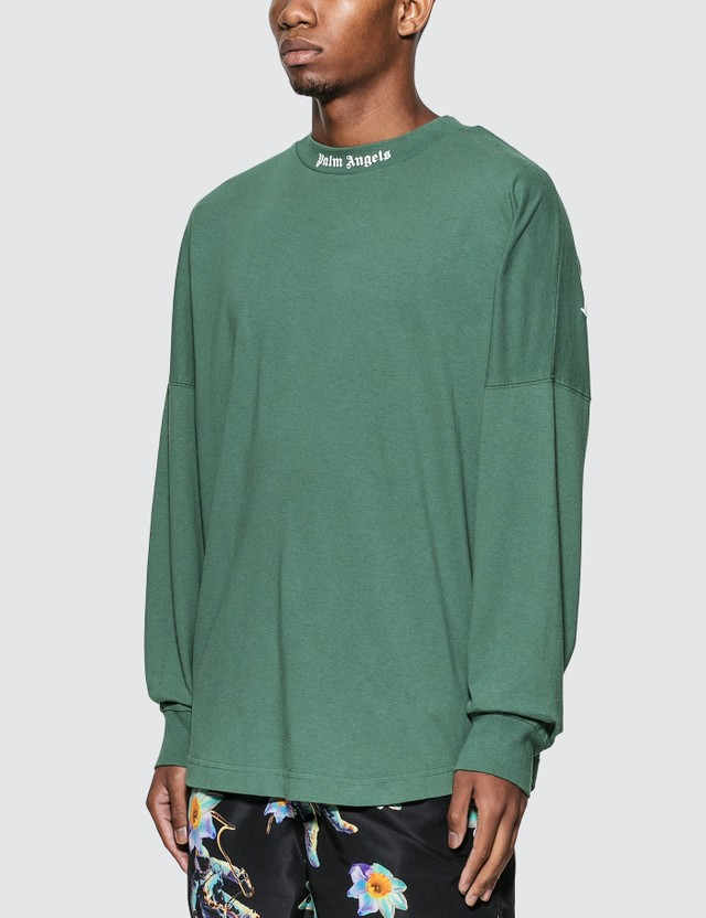 Palm Angels Classic Logo Over Long Sleeve T-Shirt