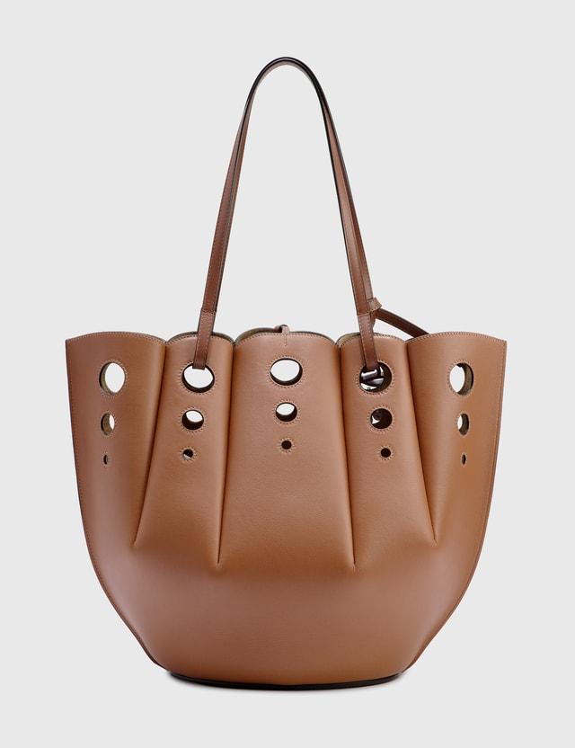 Loewe Shell Tote Bag Tan Women
