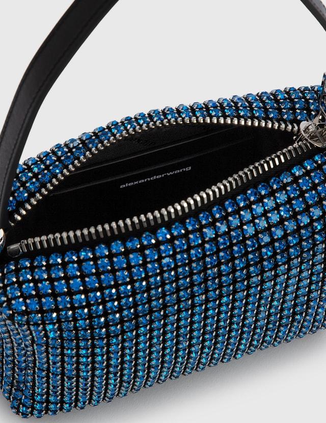 Alexander Wang Heiress Rhinestone Medium Pouch Cobalt Women
