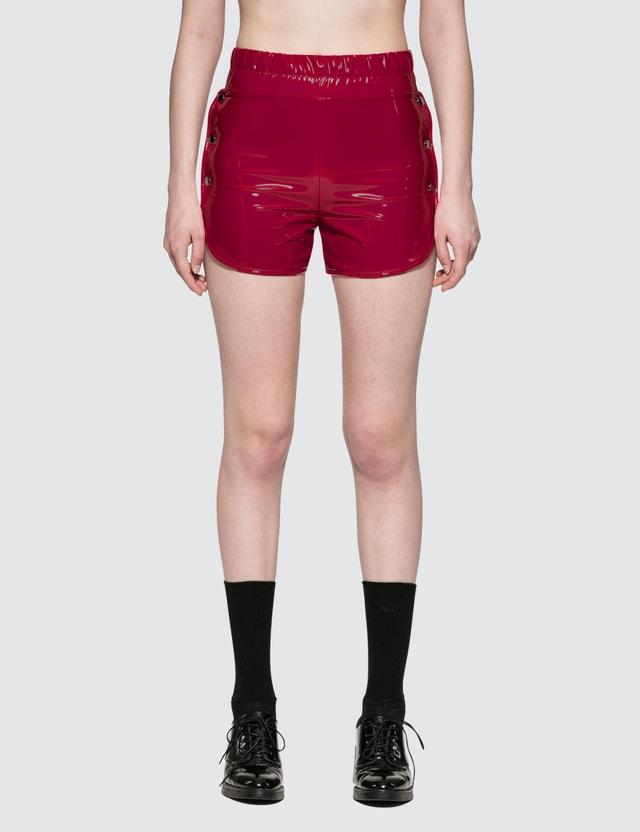 Danielle Guizio Proserpine Patent Shorts