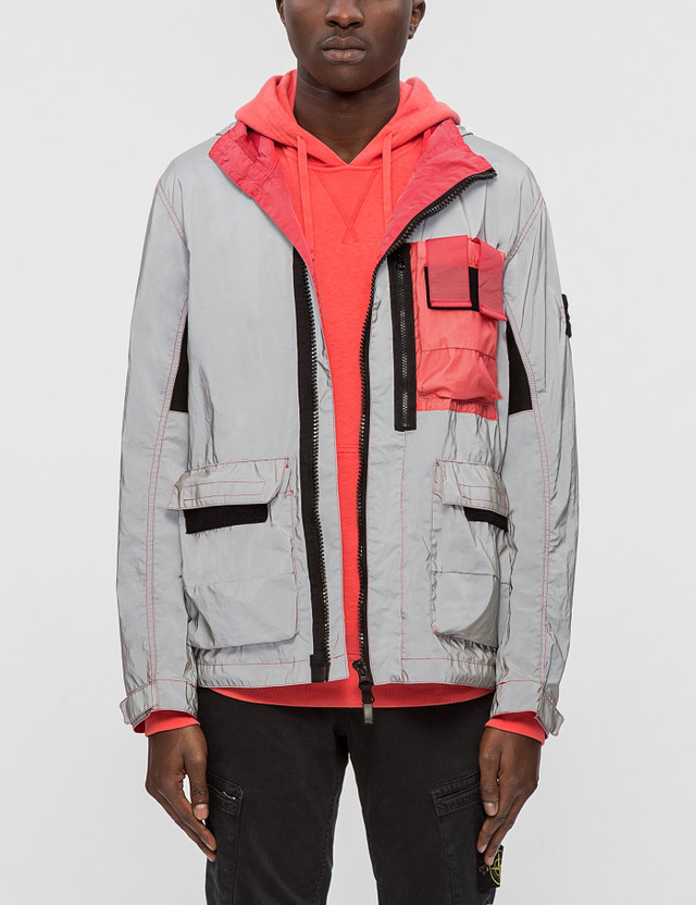 5de2e9fddc0838 Stone Island - Garment Dyed Plated Reflective Jacket
