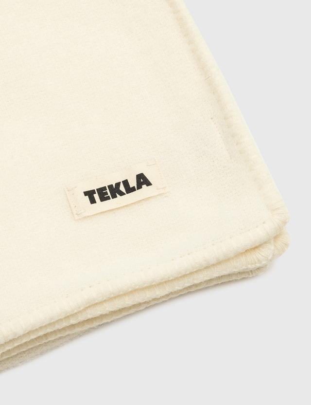 Tekla Pure New Wool Blankets Snow White Life