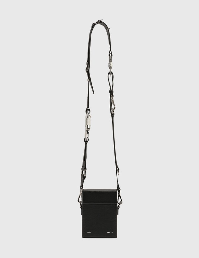 Heliot Emil Leather Strap Bag Black Men