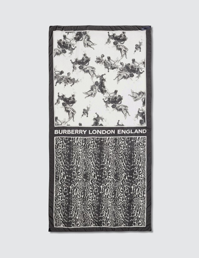 Burberry Angel Leopard Silk Scarf