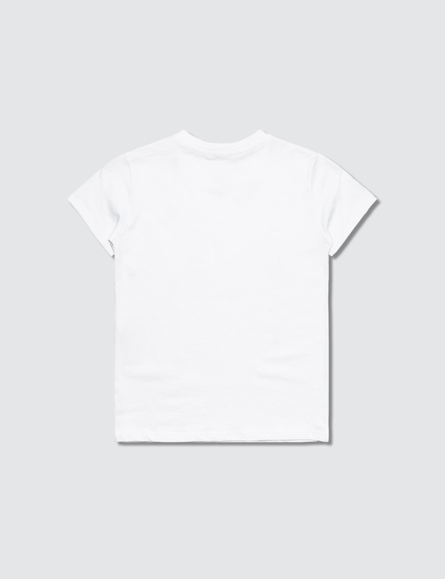 MSGM K's White Brush Stroke Logo Print T-Shirt