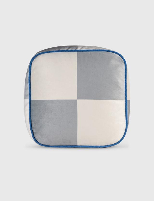 Crosby Studios Big Checkers Cubic Pillow