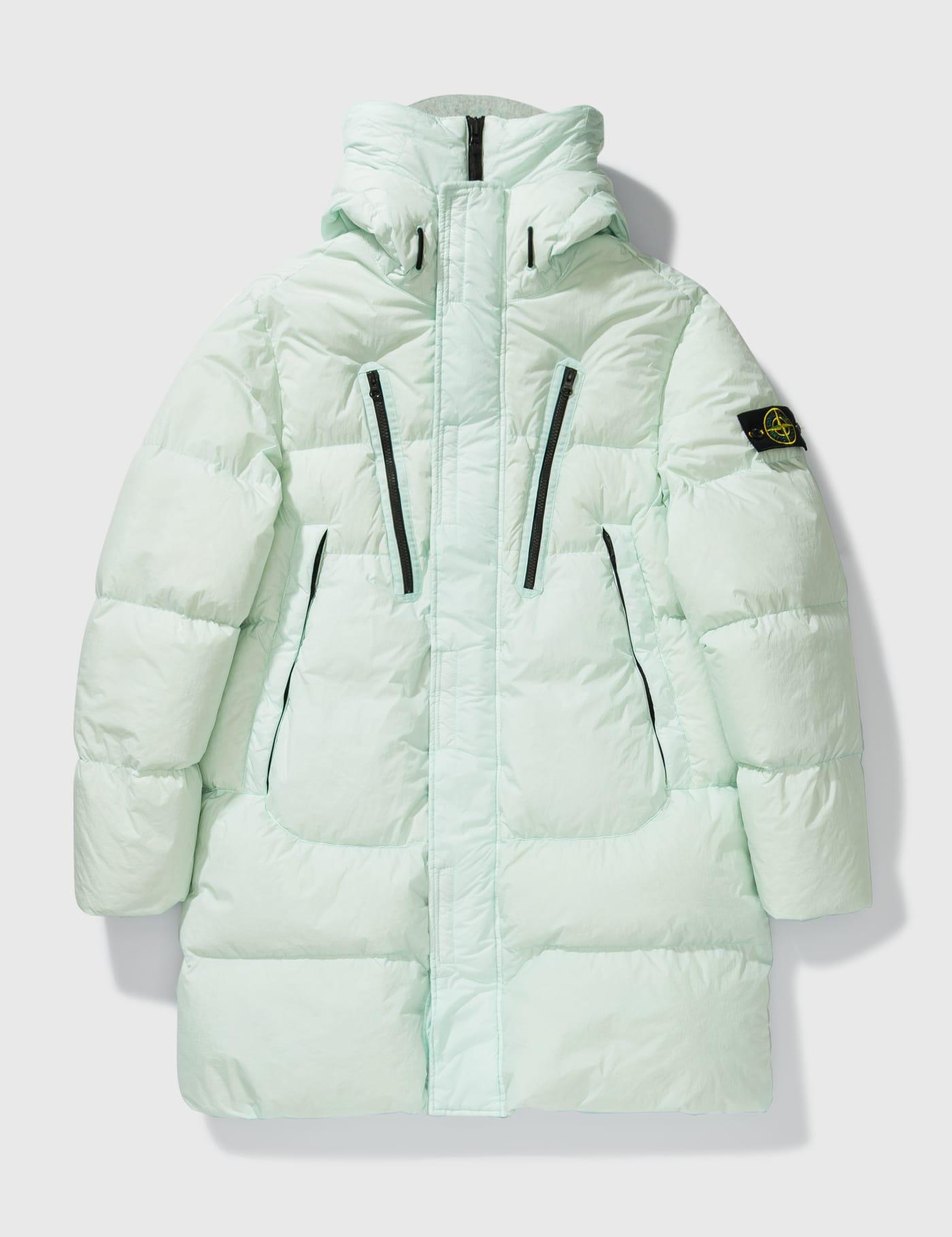 스톤 아일랜드 가먼트 다이 크링클 패딩 자켓 - 화이트 Stone Island Garment Dyed Crinkle Reps Padded Down Jacket