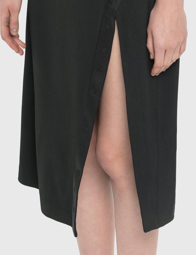 Off-White Double Layer Slip Dress Black Black  Women