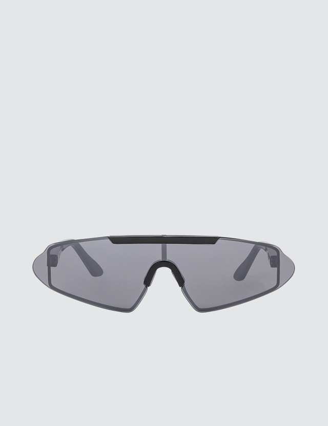 Acne Studios Silver Black Bornt Frameless Sunglasses