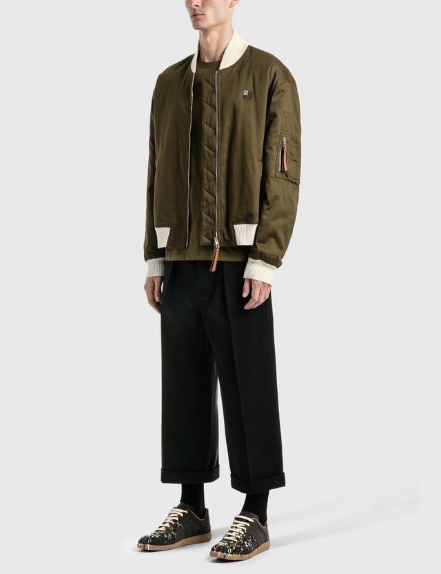 Loewe Cropped Flare Trousers Black Men