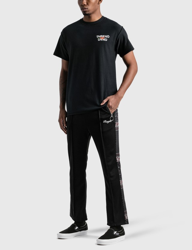 Rogic Paisley Stripe Track Pants Black Men