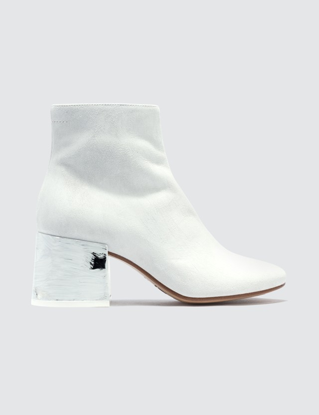 MM6 Maison Margiela Painted Heel Leather Ankle Boot