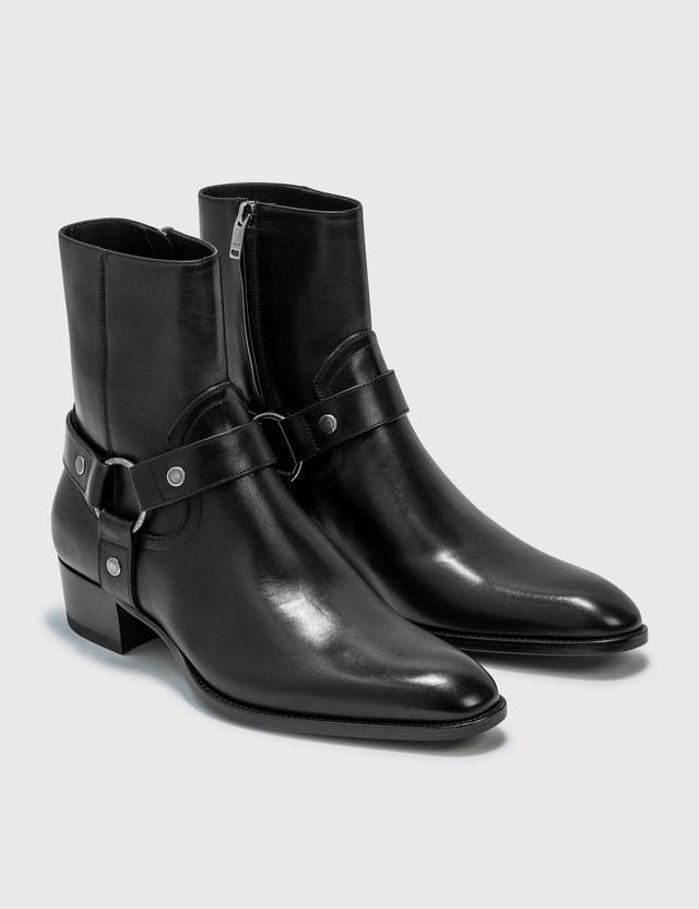 Saint Laurent Wyatt Harness Boots Nero Men