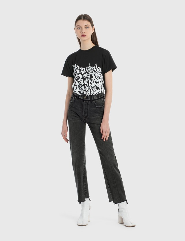Maison Margiela Patched Jeans Double Tone On Black Women