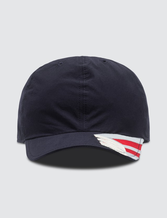 Marni Embroidered Logo Cap Blue Navy Men