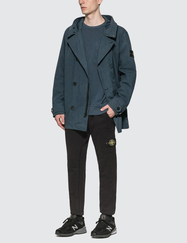 Stone Island Medium Length 4 Button Jacket