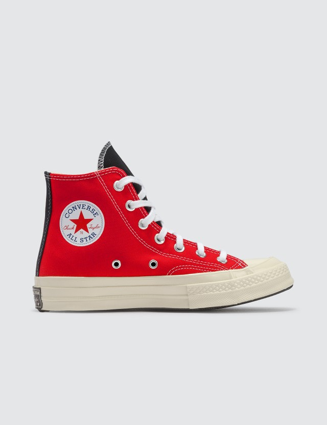 Converse Chuck 70 Hi White/university Red/rush Blue Women