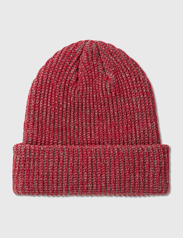 Stussy 2 Tone Knit Short Beanie Red Women