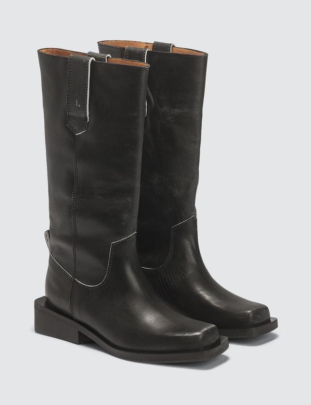 Ganni MC Leather Boots