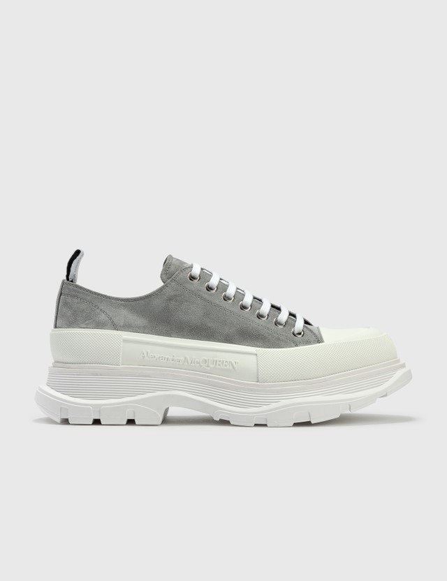 Alexander McQueen Tread Slick Lace Up Sneaker Snowcl./wh/wh/wh/sil Men
