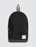 Thom Browne Unstructured Backpack In Nylon Plain Weave + Suede Picutre