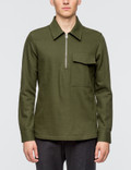 Ami Wide Fit Zipped Collar Shirt Picture