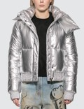 Off-White Silver Down Jacket Picture