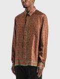 Casablanca Silk Twill Laurel 모노그램 다크 셔츠