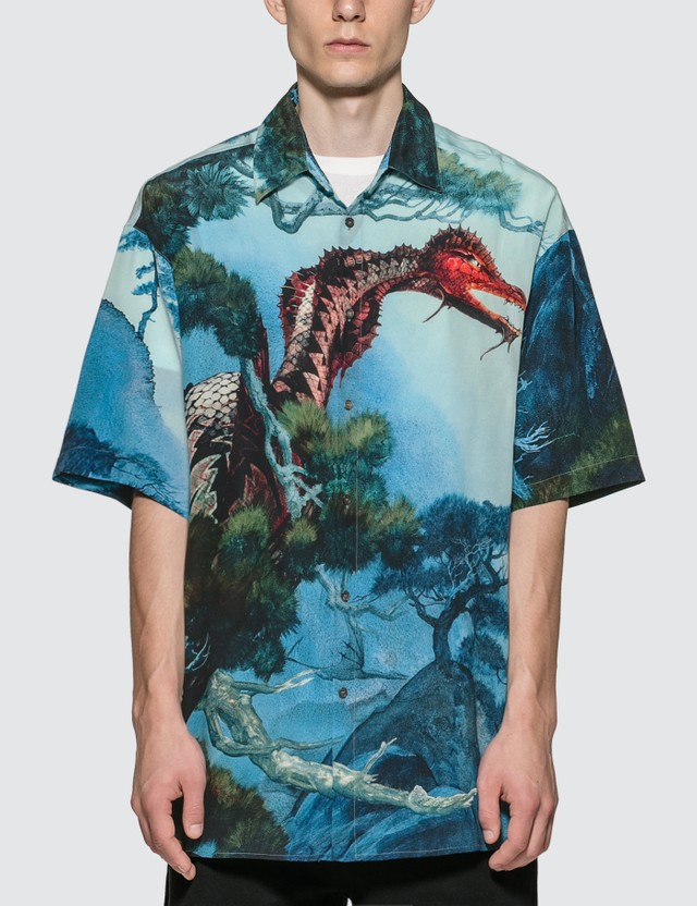 Valentino Dragon Garden Silk Shirt