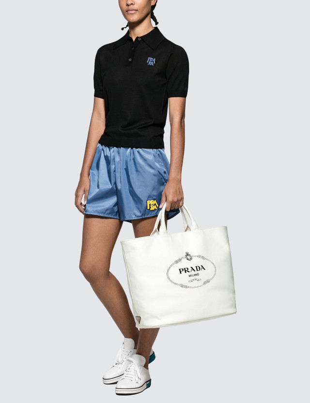 Prada Oversized Canvas Tote Bag