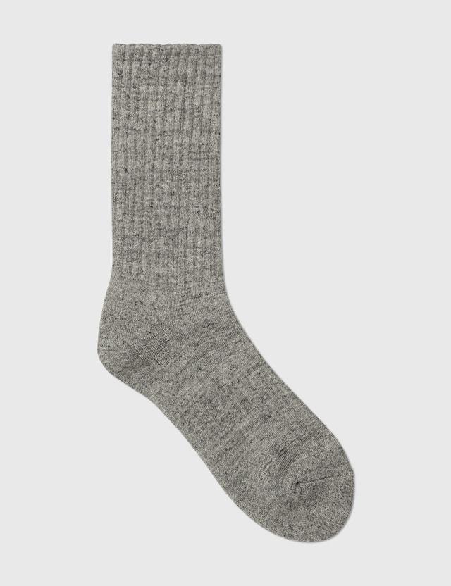 Human Made Duck Pile Socks Gray Men