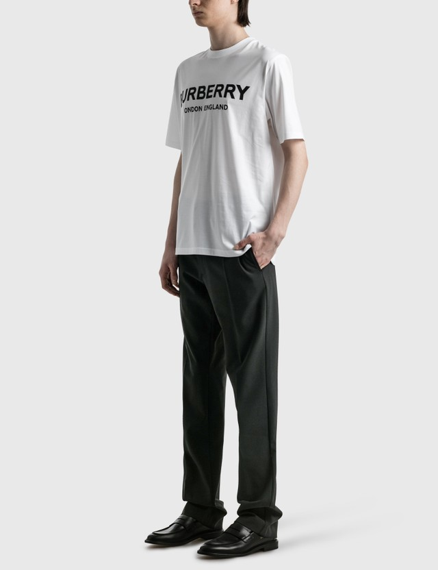 Burberry Logo Print Cotton T-shirt White Men