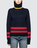 Polo Ralph Lauren Roll Neck Stripe Knit Pullover Picture