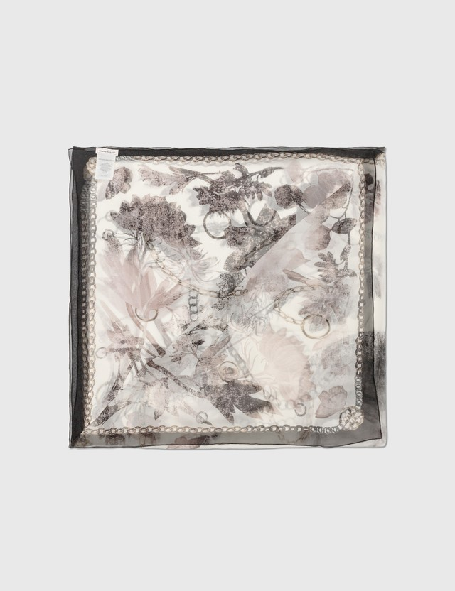 Alexander McQueen Overprint Skull Scarf Pink Women