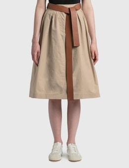 Loewe Leather Belt Skirt