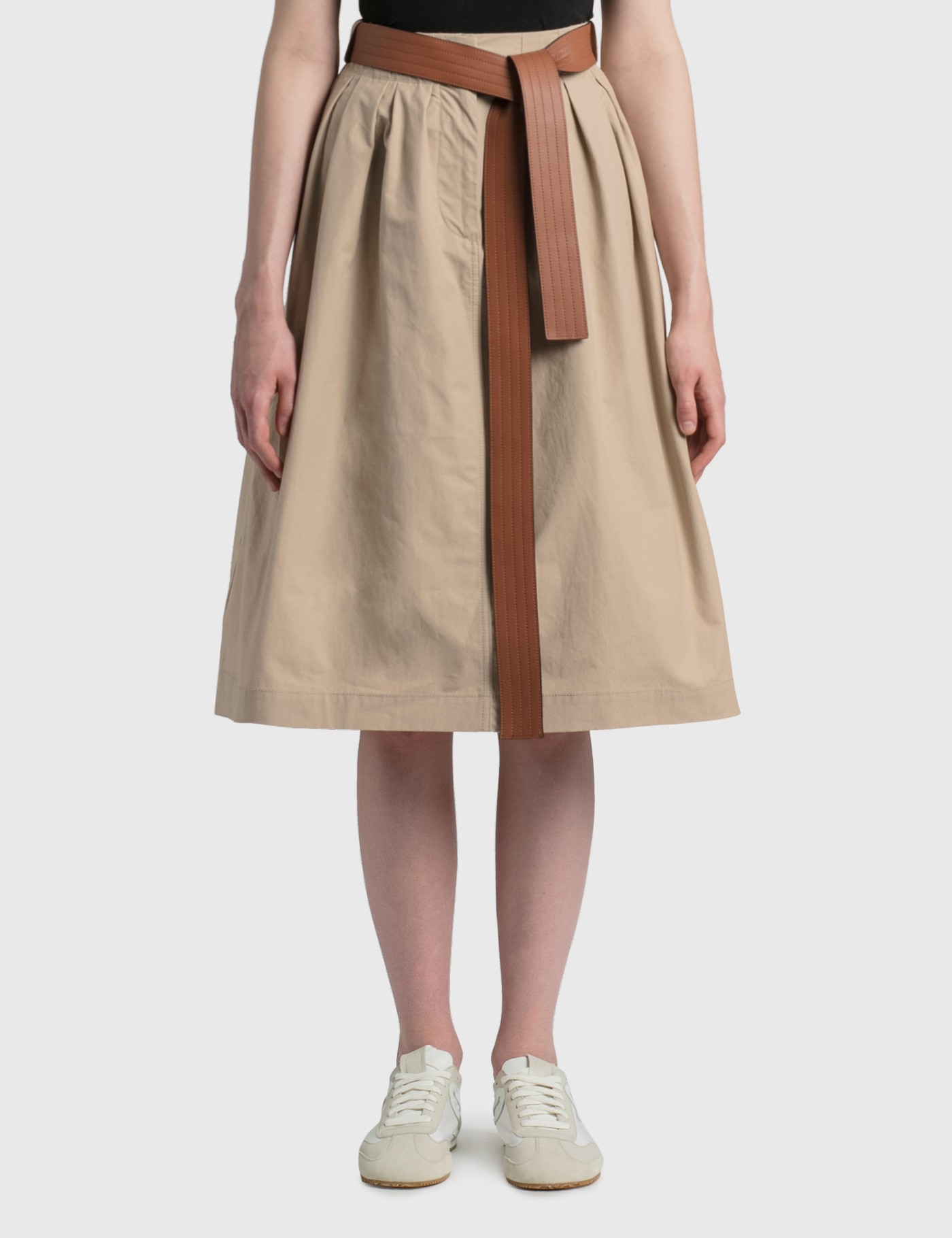 Loewe Cottons LEATHER BELT SKIRT