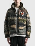 Maison Kitsune Velvet Fox Head Patch Short Down Jacket 사진