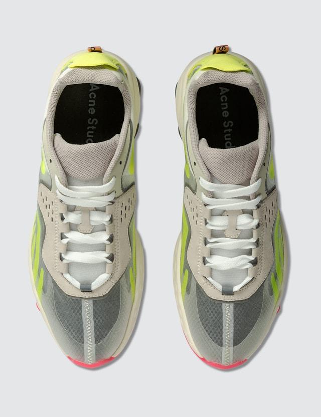 Acne Studios Trail Sneakers White/yellow/yellow Men