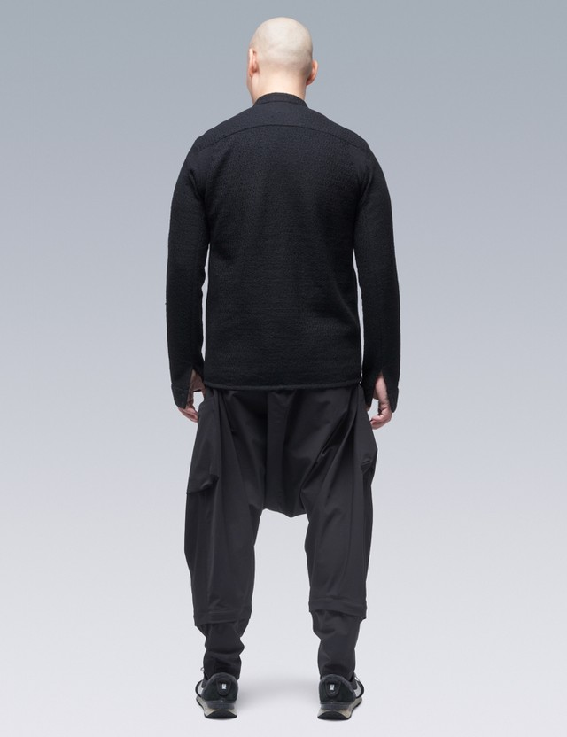 ACRONYM Cashllama 긴팔 지퍼 셔츠 재킷 Black Men