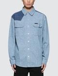 Calvin Klein Jeans Archive Western Blocked Denim Shirt Picture