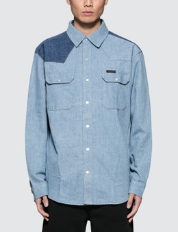 Calvin Klein Jeans Archive Western Blocked Denim Shirt